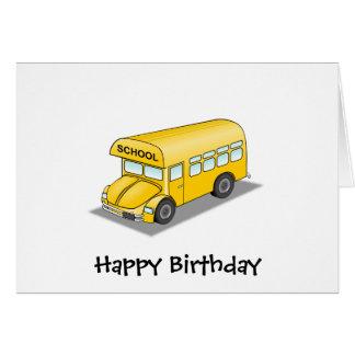 Short School Bus Card