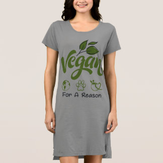 Short Sleeve Dress Designed For Stylish Vegans