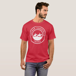 Short-sleeved T-shirt with Large White Logo