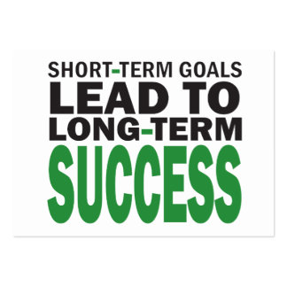 Short-Term Goals Lead to Long-Term Success Pack Of Chubby Business Cards