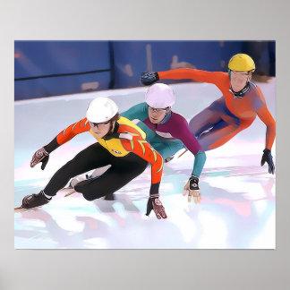 Short Track Speed Skating Poster