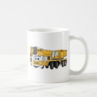 Short Yellow Cartoon Crane Basic White Mug