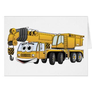 Short Yellow Cartoon Crane Card