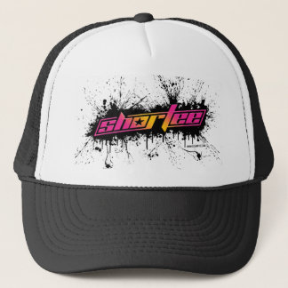 Shortee Black Paint Splatter Trucker Hat