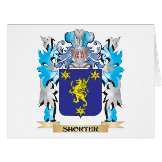 Shorter Coat of Arms - Family Crest Big Greeting Card