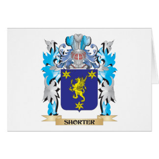 Shorter Coat of Arms - Family Crest Note Card