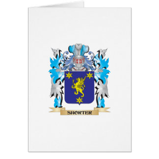 Shorter Coat of Arms - Family Crest Greeting Card