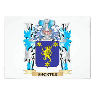 Shorter Coat of Arms - Family Crest 13 Cm X 18 Cm Invitation Card
