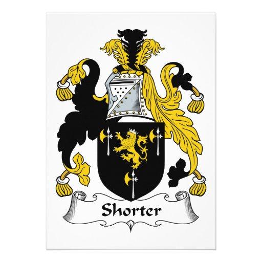 Shorter Family Crest Custom Announcements
