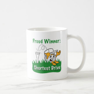 Shortest Drive Hole Prize For Golf Tournament Basic White Mug