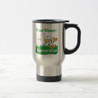 Shortest Drive Hole Prize For Golf Tournament Stainless Steel Travel Mug