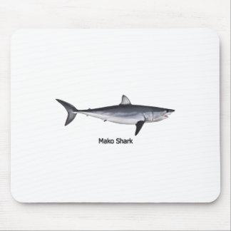 Shortfin Mako Shark Illustration Mouse Mat
