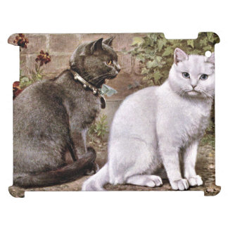 Shorthaired Cats Vintage Painting Case For The iPad
