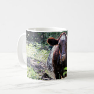Shorthorn Dairy Cow Cooling in the Stream Mug