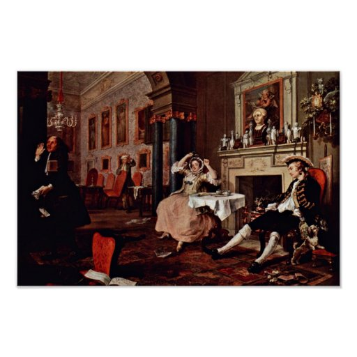 """Shortly After The Wedding """" By Hogarth William Posters"""