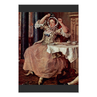 Shortly After The Wedding Detail By Hogarth Poster