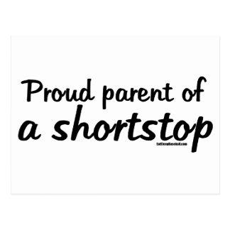 Shortstop Proud Parents Postcard