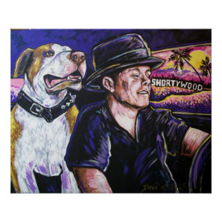 Shorty and Hercules taking a ride Poster