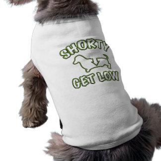 Shorty Get Low Dachshund Sleeveless Dog Shirt