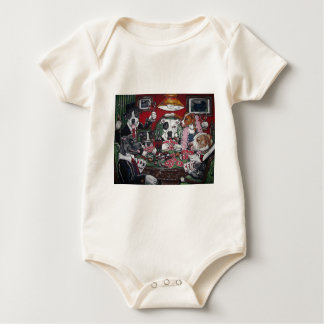 shorty's dogs playing poker baby bodysuit