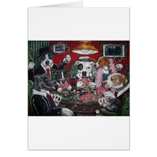 shorty's dogs playing poker card
