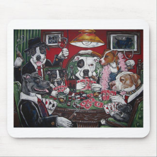 shorty's dogs playing poker mouse pad