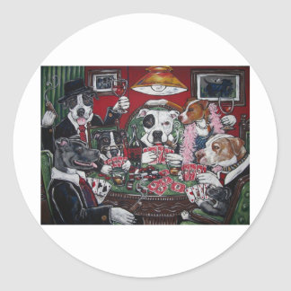 shorty's dogs playing poker sticker