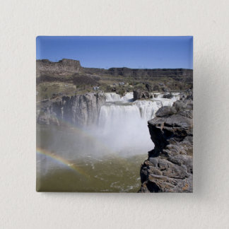 Shoshone Falls on the Snake River in Twin Falls, 15 Cm Square Badge