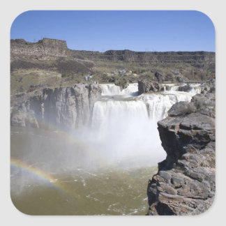 Shoshone Falls on the Snake River in Twin Falls, Square Sticker