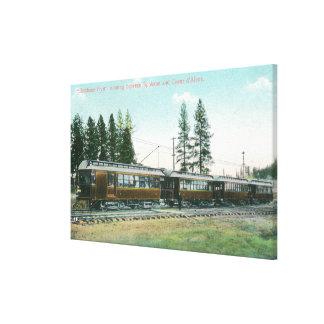 Shoshone Flyer Train off to Spokane Canvas Prints