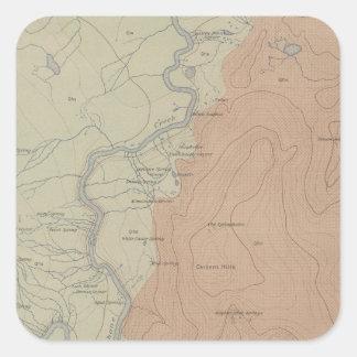 Shoshone Geyser Basin Square Sticker