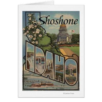 Shoshone, Idaho - Large Letter Scenes Card