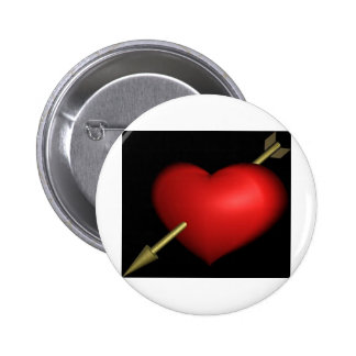 Shot by Cupid 6 Cm Round Badge