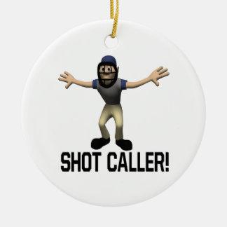 Shot Caller Round Ceramic Decoration
