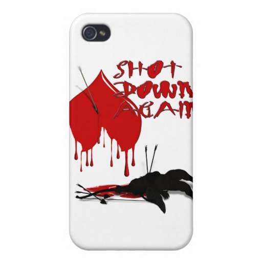 Shot Down Again (Anti-Valentine) Cases For iPhone 4