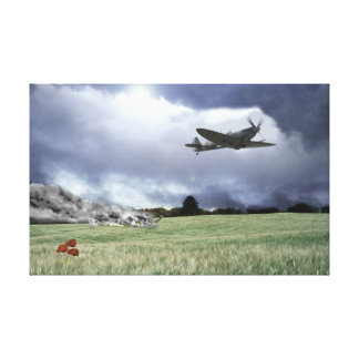 Shot Down Low Canvas Print