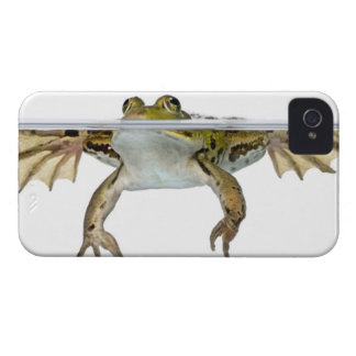 Shot of a Edible frog surfacing in front of a iPhone 4 Cases
