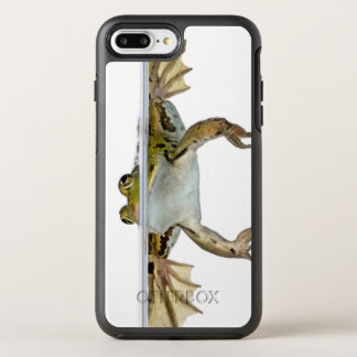 Shot of a Edible frog surfacing in front of a OtterBox Symmetry iPhone 8 Plus/7 Plus Case