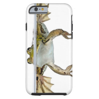 Shot of a Edible frog surfacing in front of a Tough iPhone 6 Case