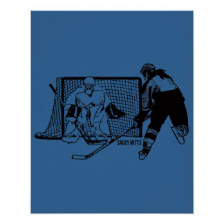 Shot On Net Hockey (female) Poster
