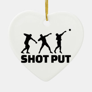 Shot put ceramic heart decoration