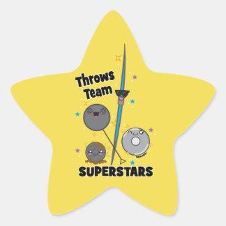 Shot Put Discus Hammer Javelin Throw Stickers Gift