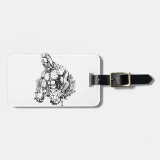 shot put gladiator luggage tag