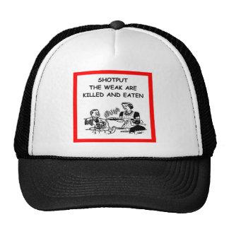 shot put trucker hat