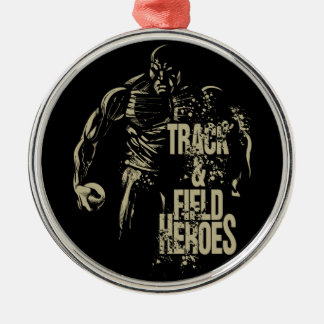 shot put hero Silver-Colored round decoration
