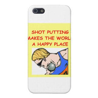 shot put puting putter iPhone 5 cases