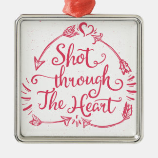 Shot through the heart Silver-Colored square decoration