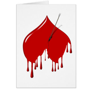 Shot to the Upside Down Heart (Anti-Valentine) Greeting Card