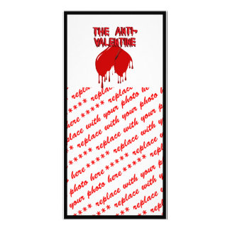 Shot to the Upside Down Heart Anti-Valentine Photo Card Template