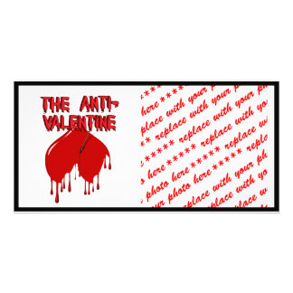 Shot to the Upside Down Heart Anti-Valentine Photo Cards